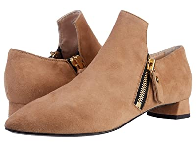 AGL Loafer Bootie With Zippers (Caramel) Women