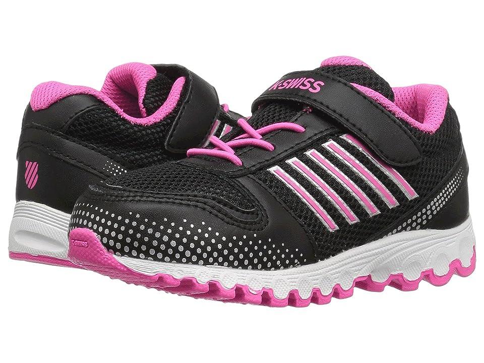 K-Swiss Kids X-160 VLC (Infant/Toddler) (Black/Black/Neon Pink) Kids Shoes