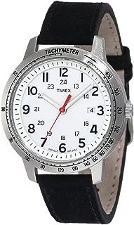 Men's T2N638 Weekender Sport Black Nubuck Leather Strap Watch