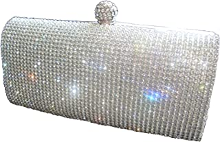 2e8c72678ee Shimmering Silver Diamante Encrusted Evening bag Clutch Purse Party Bridal  Prom