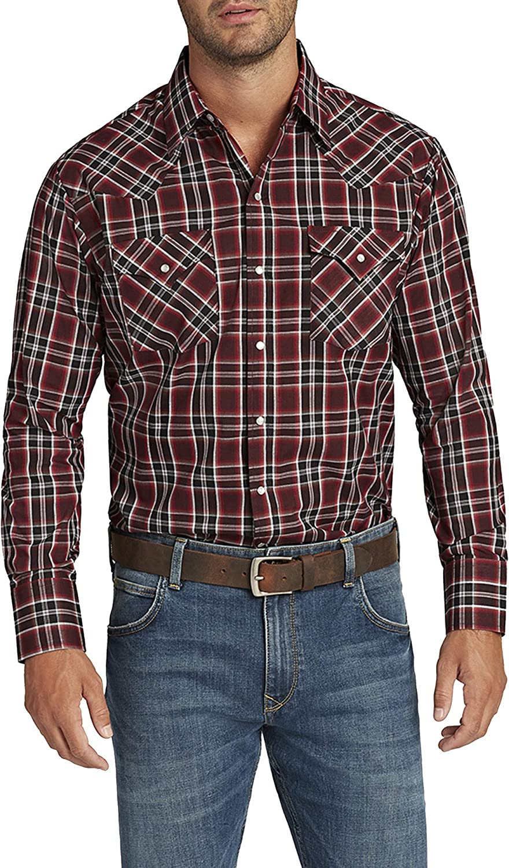 ELY CATTLEMAN Men's Long Sleeve Plaid Shirt