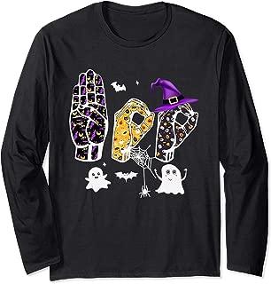 Pride ASL Boo Halloween costume shirt, funny Sign Language Long Sleeve T-Shirt