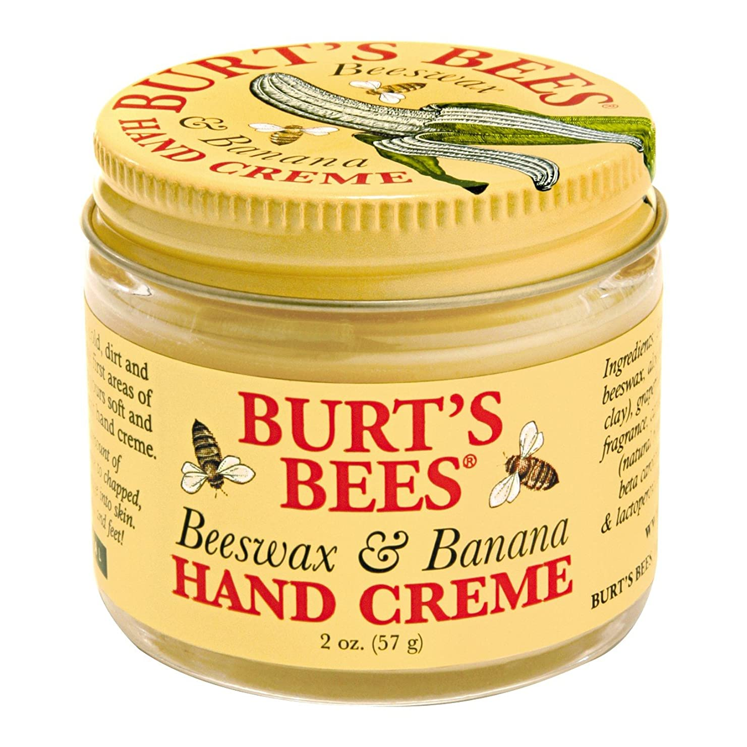 処分した率直な読書をするバーツビーの蜜蝋&バナナハンドクリーム57グラム (Burt's Bees) - Burt's Bees Beeswax & Banana Hand Creme 57g [並行輸入品]