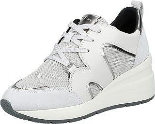Geox D ZOSMA A - SHI.NET+NAPPA Women's Sneakers, Silver (Silver/Off White C0628)