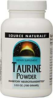 Source Naturals Taurine Powder, Calming Neurotransmitter, 100 Grams (Pack of 3)