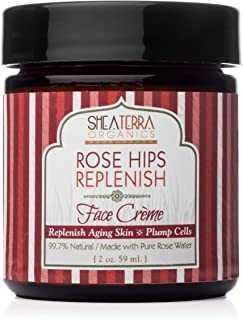 Sponsored Ad - Shea Terra Organics Rose Hips Replenish Face Crème | Daily Moisturizer Spa Treatment | All Skin Types – 2 oz
