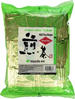 Authentic Maeda-en Japanese Sencha Green Tea - 100 Foil-Wrapped Tea Bags (Pack of 2)