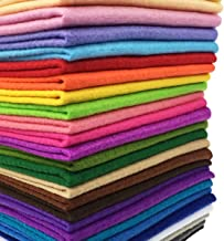 flic-flac 28pcs 12 x 8 inches (30cmx20cm) 1.4mm Thick Soft Felt Fabric Sheet Assorted Color Felt Pack DIY Craft Sewing Squ...