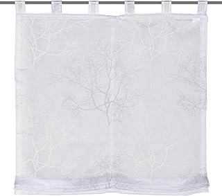 Home Fashion 79641-803 Tab-Top Roman Blind 140 x 120 cm Batiste Grey