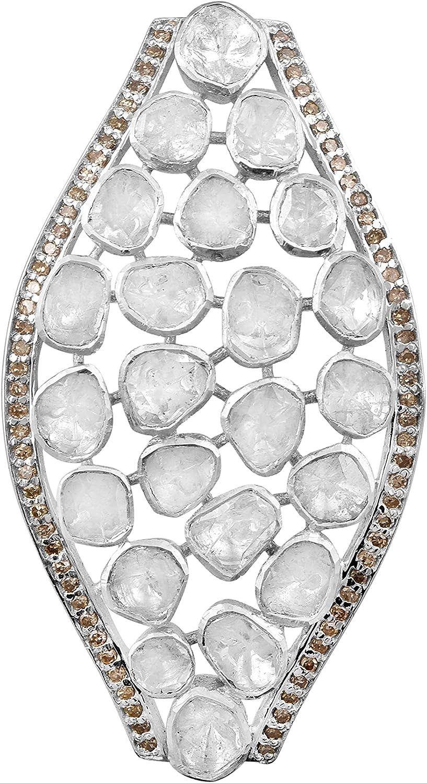 Shine Jewel 3.1 CT Max 60% OFF Uncut Pendant ! Super beauty product restock quality top! Diamond Cluster Polki Marquise
