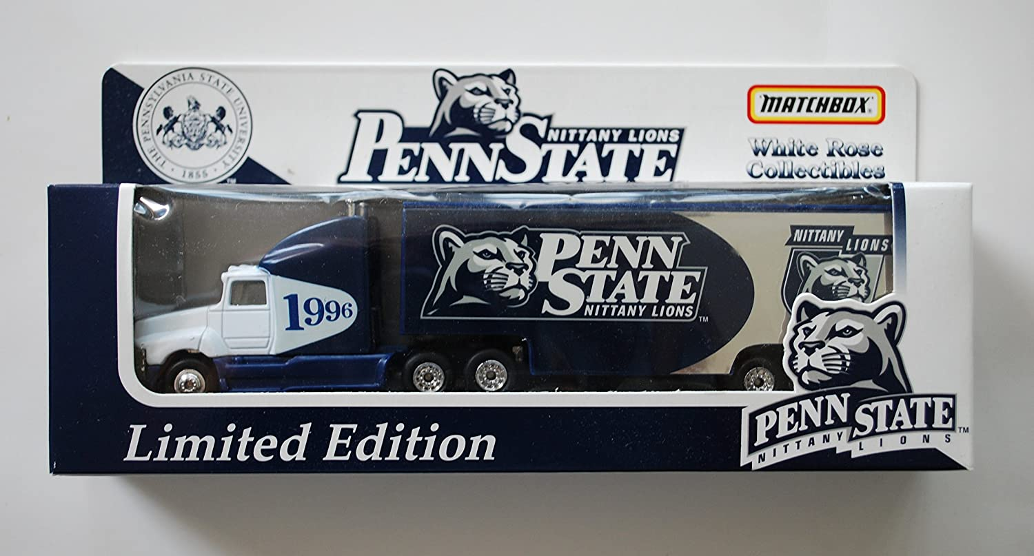 Matchbox 1996 PENN STATE UNIVERSITY PSU NITTANY LIONS  NEW LOGO Tractor Trailer Truck in 1 87 Scale Diecast