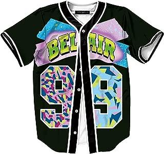 Unisex Baseball Jersey Short Sleeve 3D Print Tees