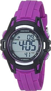 ساعة ارمترون رياضية للنساء بسوار من الراتنج بعرض رقمي