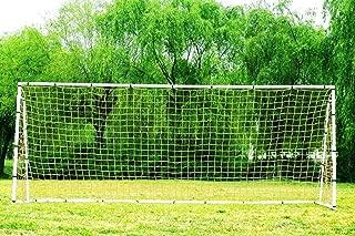 Pass 24 x 8 Ft. Official Size. Heavy Duty Steel Soccer Goal w/Net. Regulation MLS/FIFA Size Goals. Professional Practice Training Aid. 24x8 Foot. (2Net)
