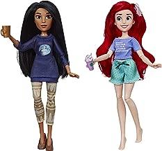 Disney Princess Ralph Breaks The Internet Movie Dolls, Ariel & Pocahontas Dolls with Comfy Clothes & Accessories