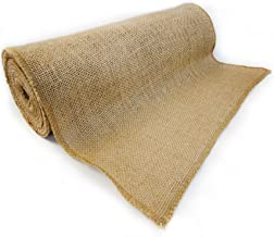"""Richcraft 12"""" x 10yd NO-FRAY Burlap Roll ~ Long Fabric with Finished Edges. Perfect for Weddings,Table Runners, Placemat, Crafts. Decorate Without The Mess!"""