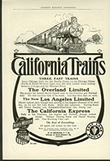 California Trains Overland Express ++ North-Western & Union Pacific RR ad 1906