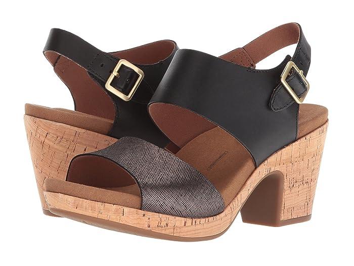 Rockport Vivianne 2 Part Sandal (Black Multi) Women's Shoes