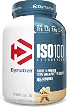 Dymatize ISO 100 Whey Protein Powder with 25g of Hydrolyzed 100% Whey Isolate, Gluten Free, Fast Digesting, Gourmet Vanill...