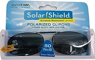 Solar Shield Polarized Clip on Sunglasses full frame size 50 REC 5 by Dioptics by Dioptics Inc