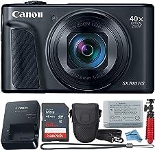 Canon Powershot SX740 - Cámara digital de punto y disparo, color negro + paquete de accesorios + paño digital inspirador.