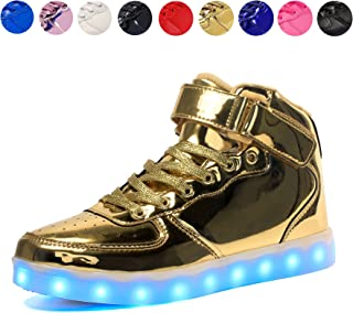 72071d0025 Voovix Kids LED Light up Shoes USB Charging Flashing High-top Sneakers for  Boys and