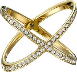 Brilliance Pave X Ring