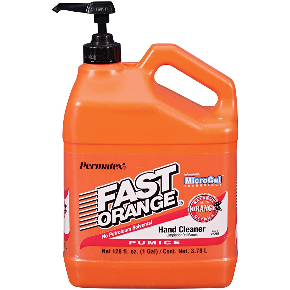 困惑した他のバンドで一貫したFAST ORANGE HAND CLEANERPUMICE 1 GALLON BOTTLE