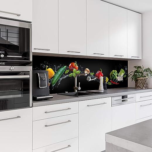 Dedeco Küchenrückwand Motiv: Obst & Gemüse V1, 3mm Acrylglas Plexiglas als Spritzschutz für die Küchenwand Wandschutz Dekowand wasserfest,...