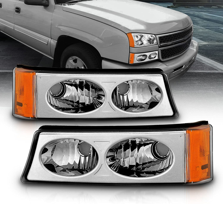 AmeriLite 新作通販 期間限定特価品 Chrome Replacement Bumper Parking Signal Lights S Turn