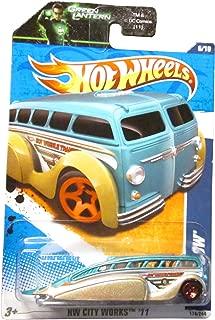 Hot Wheels 2011 HW City Works Low Flow on Green Lantern Card