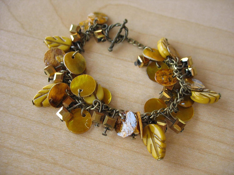 Leafy Golden Dangles Selling Max 89% OFF Bracelet Charm