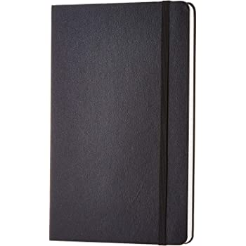 AmazonBasics Classic Lined Notebook, 240 Pages, Hardcover - Ruled