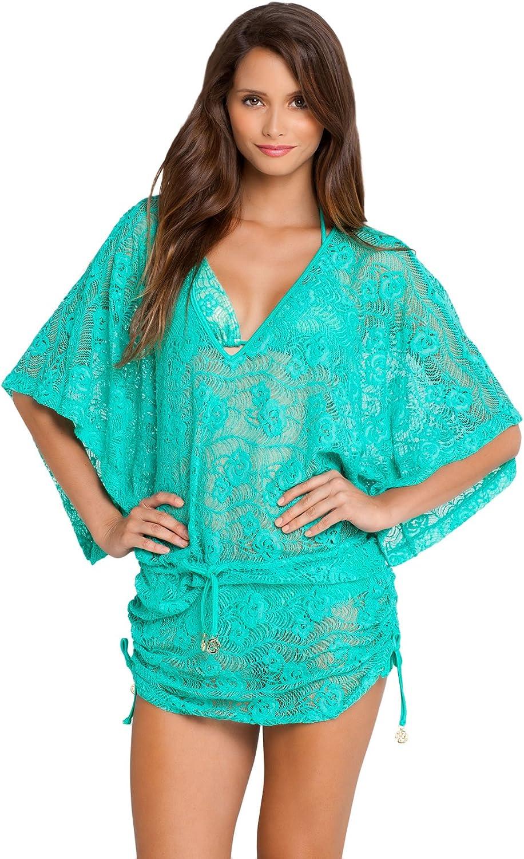 Luli Fama womens Sabor a Menta Cabana V-neck Dress