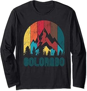 Retro Colorado Long Sleeve T Shirt for Men Women and Kids