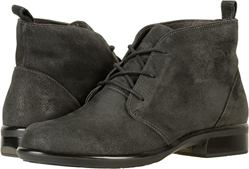 Brushed Oily Midnight Suede