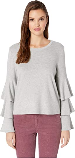 Wax Poetic Brushed Knit Tiered Sleeve Top