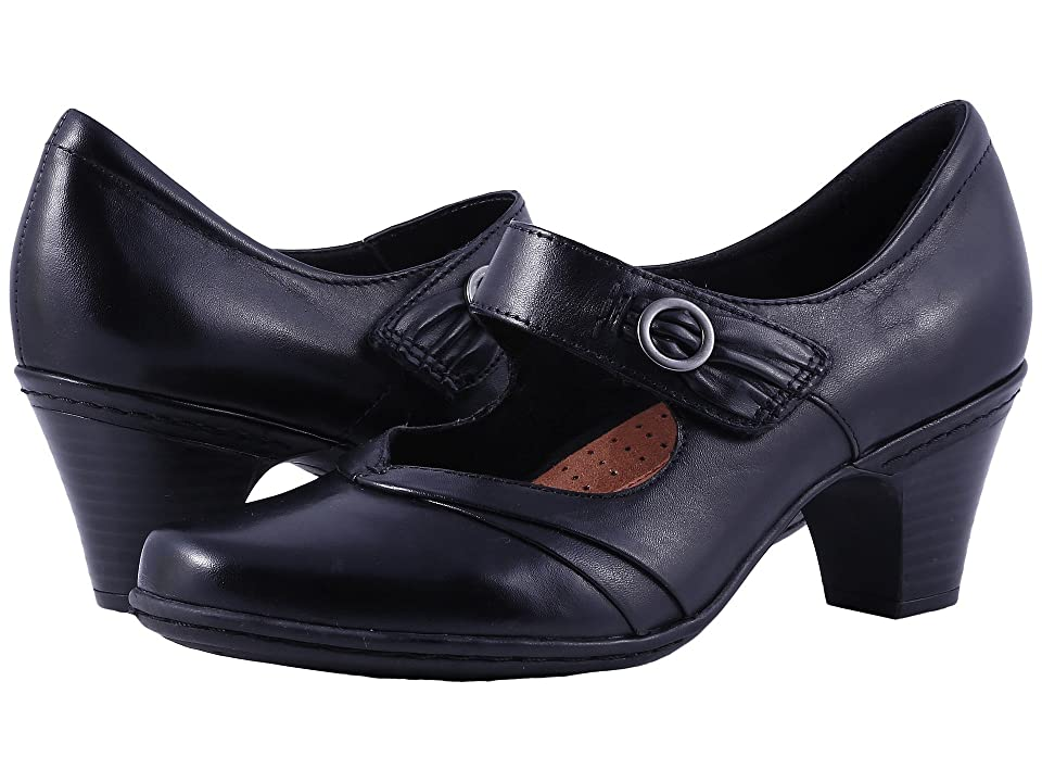 1930s Style Shoes – Art Deco Shoes Rockport Cobb Hill Collection Cobb Hill Salma Black Womens Maryjane Shoes $109.95 AT vintagedancer.com