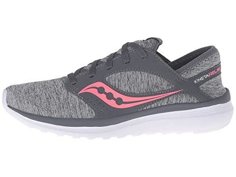 New Arrival Fashion With Paypal Cheap Price Saucony Kineta Relay Grey/Heather/Coral Buy Cheap Pictures AMtGVeC
