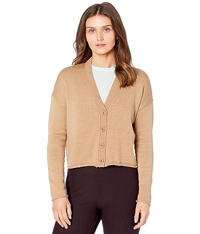Eileen Fisher Petite Button Front Cardigan (Honey) Women