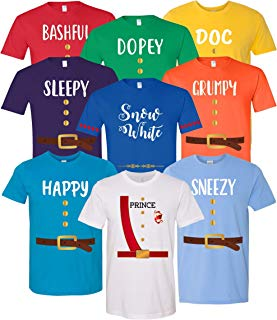 7 Dwarfs Shirts - Cosplay Costume Seven Dwarfs T Shirt Unisex Tee - 7 Dwarf - Family, Cruise, Group Event Snow White and Seven Dwarf ADULT