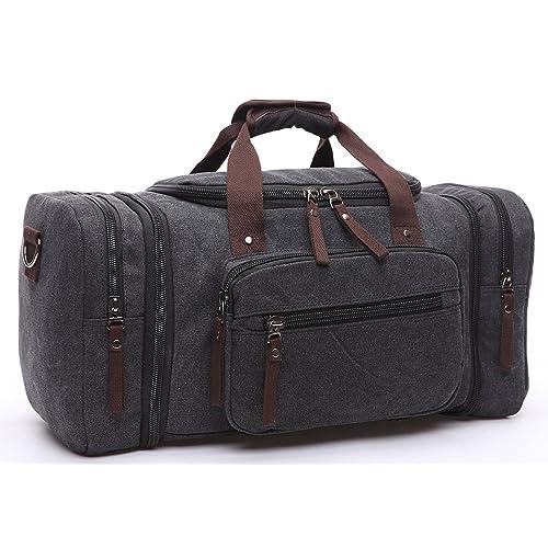 e41ab5da6e BAOSHA HB-21 Canvas Holdall Overnight Weekend Bag Travel Duffle Bag  Weekender Bags Sports Shoulder