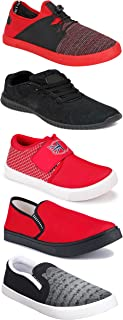 Shoefly Sports Running Shoes/Casual/Sneakers/Loafers Shoes for MenMulticolors (Combo-(5)-1219-1221-1140-720-785)