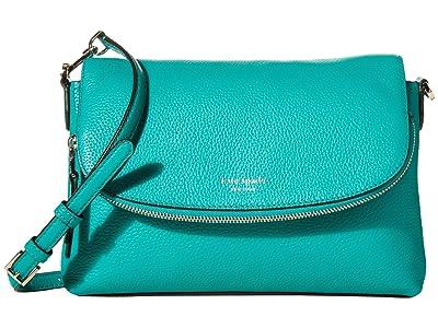 Kate Spade New York Polly Large Flap Crossbody (Fiji Green) Handbags