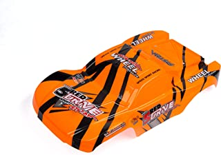 Custom Body Orange Compatible for 1/10 Scale RC Car or Truck (Truck not Included) SSJ-O-01