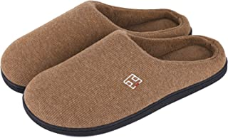 Men's and Women's Classic Memory Foam Plush House Slippers, Autumn Winter Breathable Indoor/Outdoor Shoes