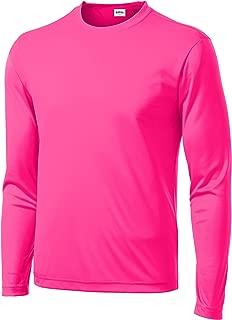 Clothe Co. Men's Long Sleeve Moisture Wicking Athletic Sport Training T-Shirt