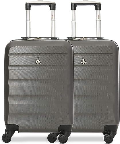 Aerolite ABS Bagage Cabine Bagage à Main Valise Rigide Légere à 4 roulettes, pour Ryanair, Easyjet, Air France et Plu...