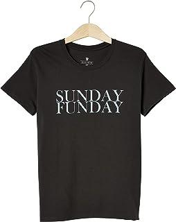 Cotton On Women's Graphic T-Shirt, Sunday Funday/Washed Black