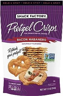 Snack Factory Pretzel Crisps, Bacon Habanero, 7.2 Ounce (Pack of 12)